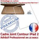 PACK iPad 2 A1397 Joint B Cadre HOME Apple Blanche Tablette Adhésif Réparation Bouton PREMIUM Ecran Verre Vitre iPad2 Precollé Tactile