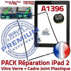 Vitre Réparation Tablette Precollé Bouton Verre Chassis HOME Cadre iPad Tactile KIT iPad2 PREMIUM Joint Noire PACK Apple N 2 A1396 Adhésif