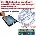 PACK iPad4 Joint Nappe N KIT Verre Tablette 4 iPad Tactile Apple Noire HOME Adhésif Réparation Plastique PREMIUM Bouton Precollé Vitre Cadre