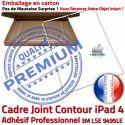 PACK A1459 Joint Nappe B Cadre Blanche Apple Verre KIT Réparation Adhésif Plastique Contour Bouton Vitre HOME Tactile iPad4 Precollé Tablette