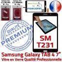 Samsung Galaxy SM-T231NZWAXEF N Assemblée Vitre PREMIUM Tactile Ecran Supérieure SM-T231 TAB4 Noire Adhésif Prémonté Verre LCD Qualité NZWAXEF