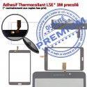 Samsung Galaxy SM-T233NZWAXEF B LCD Qualité Verre SM-T233 PREMIUM NZWAXEF Blanche Ecran Supérieure TAB4 Prémonté Adhésif Vitre Tactile Assemblée