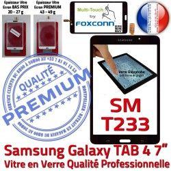 inch Ecran PREMIUM Galaxy Vitre Tactile SM-T233 Samsung LCD Verre Prémonté Qualité 7 N Supérieure Assemblée Noire TAB4 Adhésif