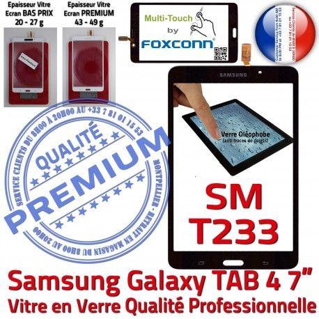 Samsung Galaxy TAB 4 SM-T233 N Adhésif Noire Prémonté T233 TAB4 Verre Assemblée Qualité Ecran Tactile LCD Supérieure 7 PREMIUM Vitre SM inch