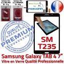 Samsung Galaxy SM-T235 TAB4 N Prémonté inch Adhésif LCD Ecran Tactile Supérieure 7 Vitre Verre PREMIUM Noire Qualité Assemblée