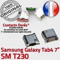 4 à inch Connector Galaxy Samsung T230 Dock 7 SM Dorés Prise de Tab Pins Micro ORIGINAL TAB USB souder Connecteur Chargeur charge