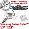 Samsung Galaxy Tab4 SM-T231 USB Dock ORIGINAL TAB4 Fiche charge à souder Pins Connector Dorés SLOT MicroUSB Prise Chargeur de Qualité