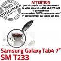 Samsung Galaxy Tab 4 T233 USB Connecteur TAB charge ORIGINAL souder Dorés Dock de 7 Pins Chargeur à inch Prise Micro SM Connector