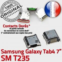 de USB Samsung Dock TAB4 Pins Connector Galaxy Tab4 MicroUSB Qualité Fiche Dorés charge SM-T235 Prise SLOT ORIGINAL souder à Chargeur