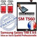 Samsung Galaxy TAB-E SM T560 N Assemblé Vitre Noir 9.6 Noire Ecran Verre SM-T560 Metallic Adhésif Assemblée Metal Tactile Qualité PREMIUM