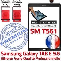 T561 Noire Adhésif Assemblée Samsung N Metal Galaxy Verre 9.6 SM-T561 Qualité Vitre Tactile Ecran PREMIUM Assemblé Metallic SM TAB-E Noir